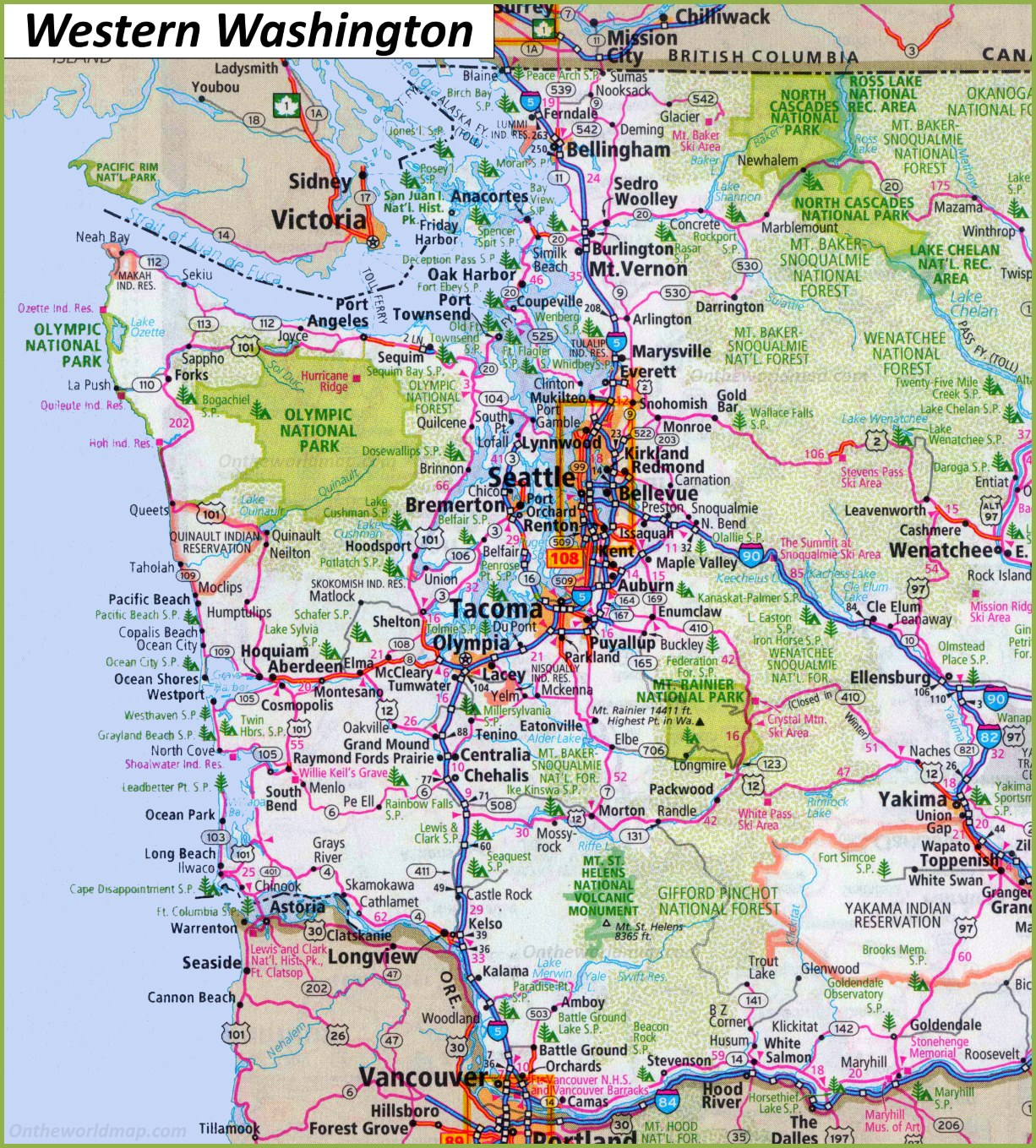 Picture of: Map Of Western Washington