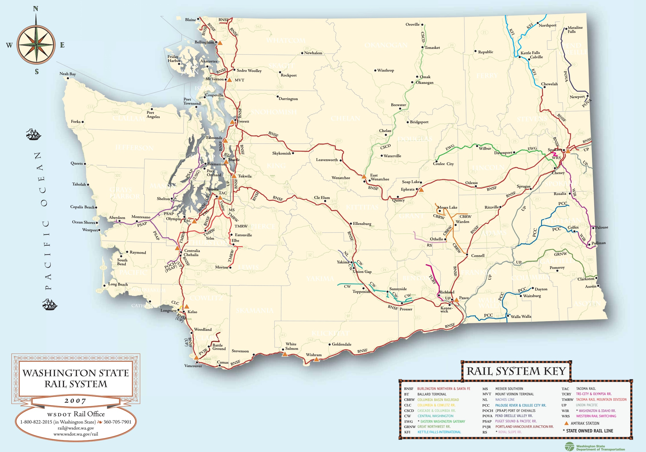 Washington State Maps | USA | Maps of Washington (WA)