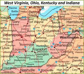 map of ohio kentucky and indiana Ohio State Map Usa Maps Of Ohio Oh map of ohio kentucky and indiana