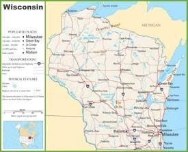 Wisconsin highway map
