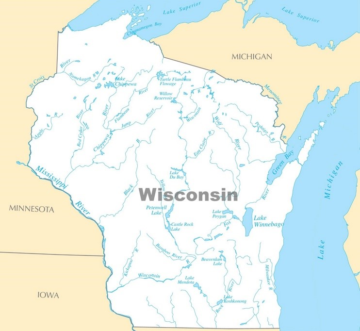 Places To Visit On Lake Michigan In Wisconsin: Wisconsin Lakes Map