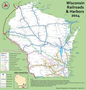 Wisconsin railroad map