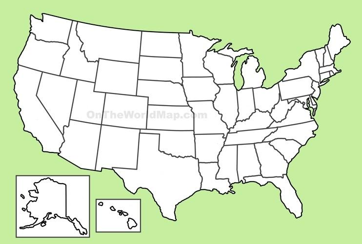 USA blank map