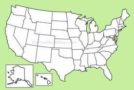 USA Maps Maps Of United States Of America USA US - Usa blank map