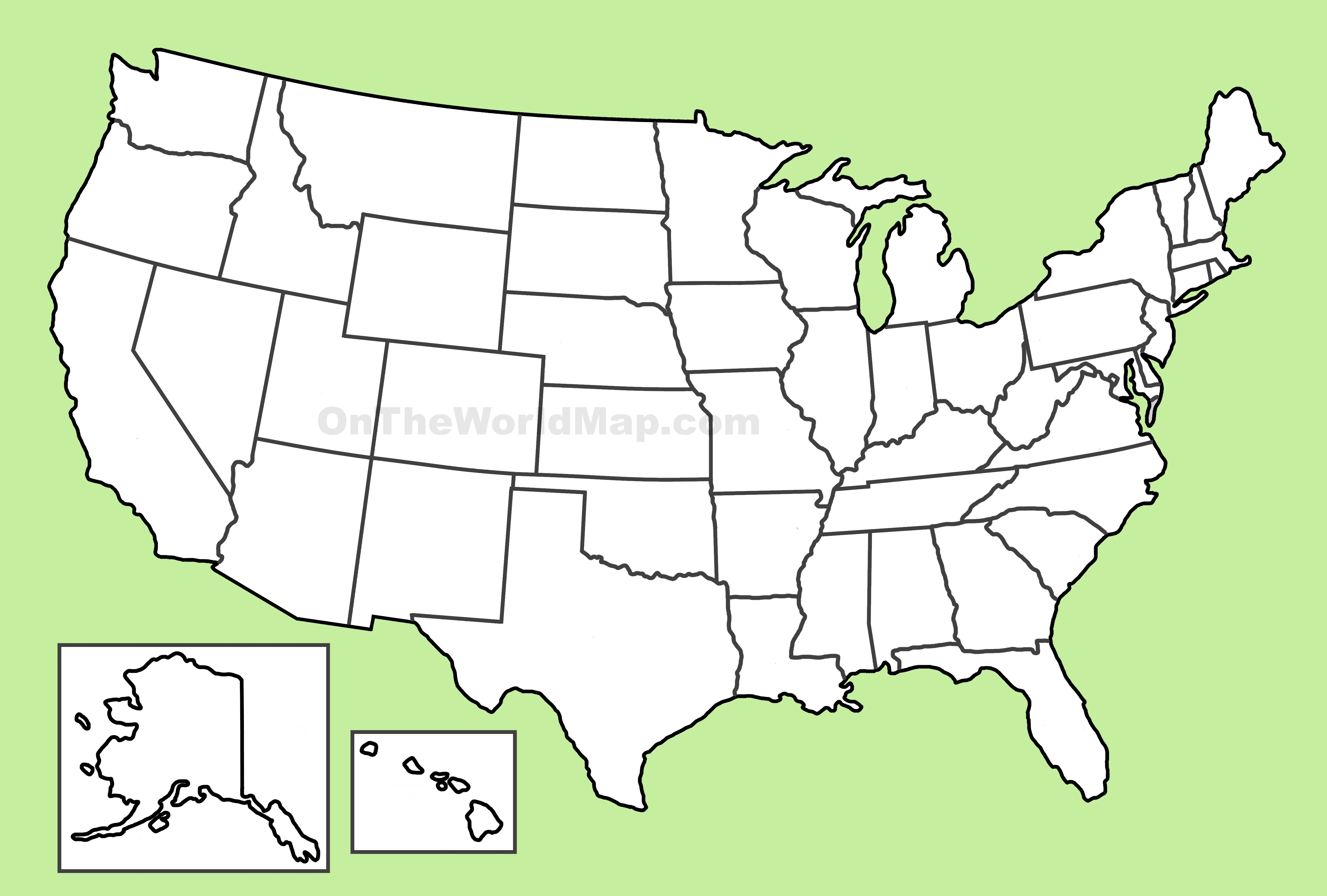 Blank Map Of Us USA blank map Blank Map Of Us