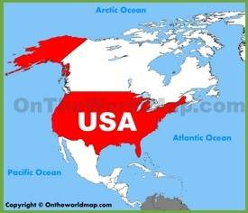Usa Maps Maps Of United States Of America Usa Us - Pacific-ocean-on-us-map