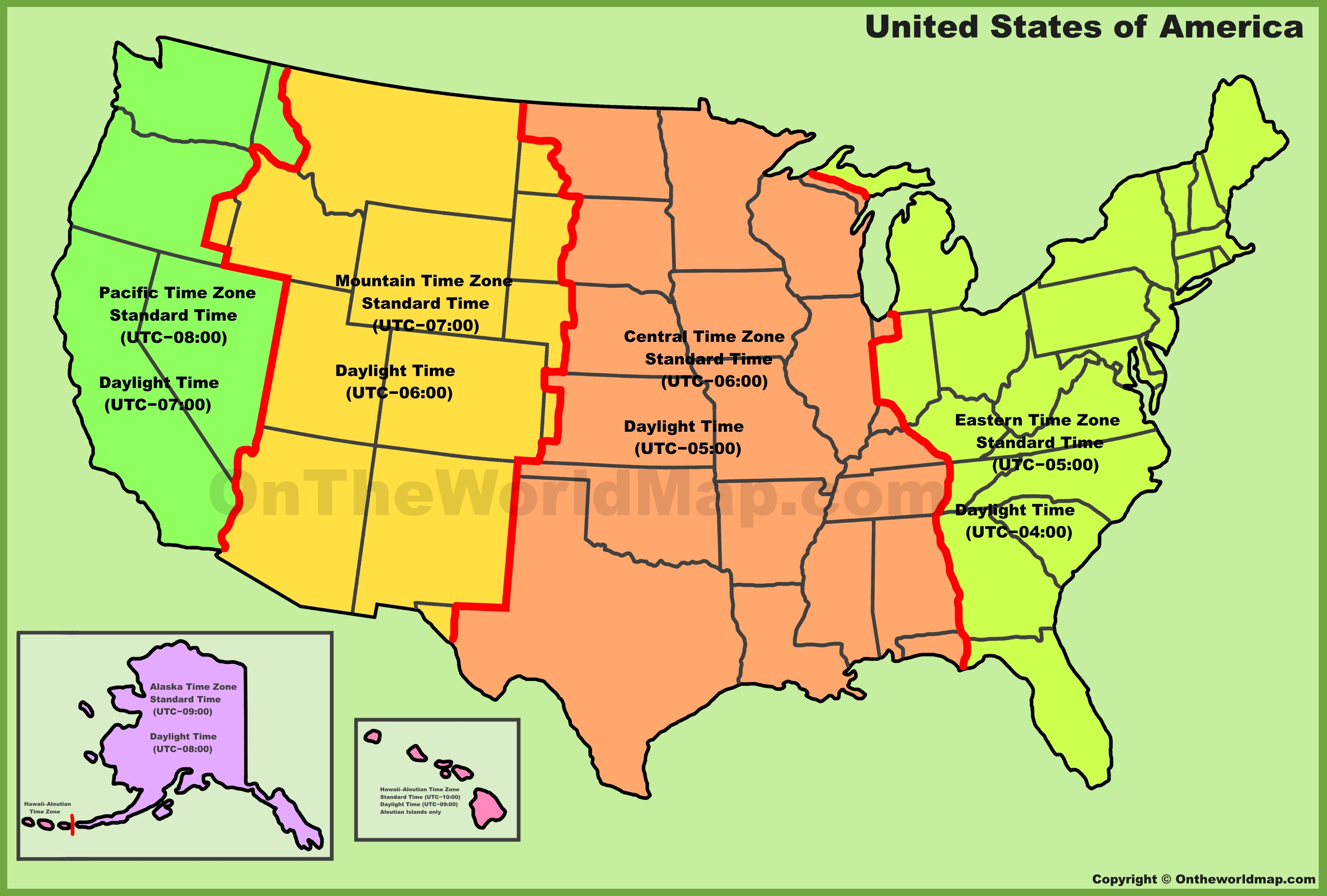 Usa Map Time Zones States Topographic Map Image Ustimezonemapgif - Indiana map of usa