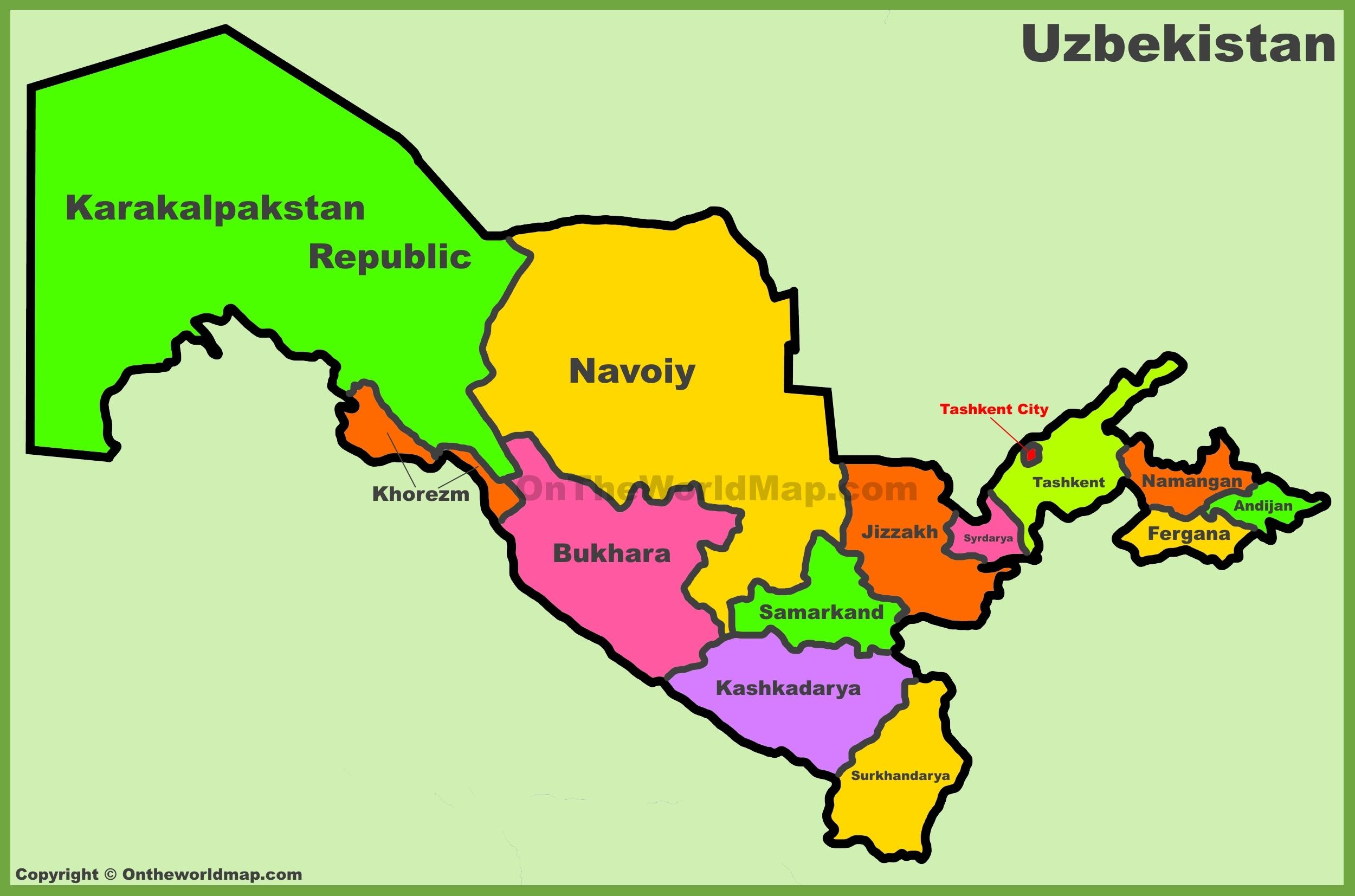 Uzbekistan Maps Maps of Uzbekistan