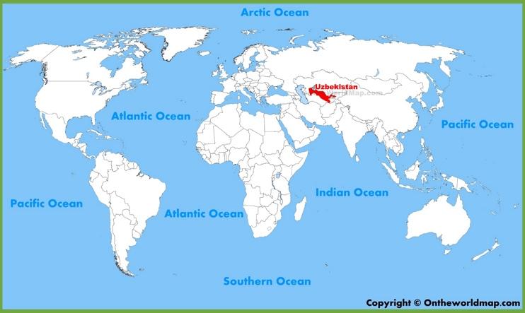 Uzbekistan location on the World Map
