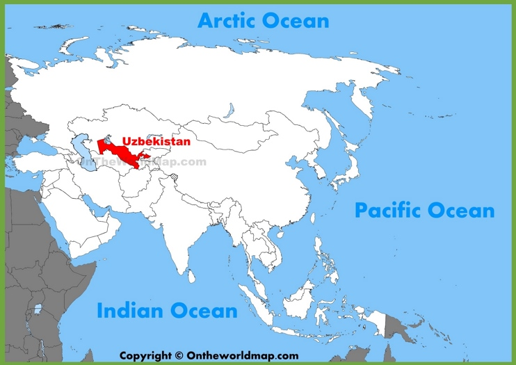 Uzbekistan location on the Asia map