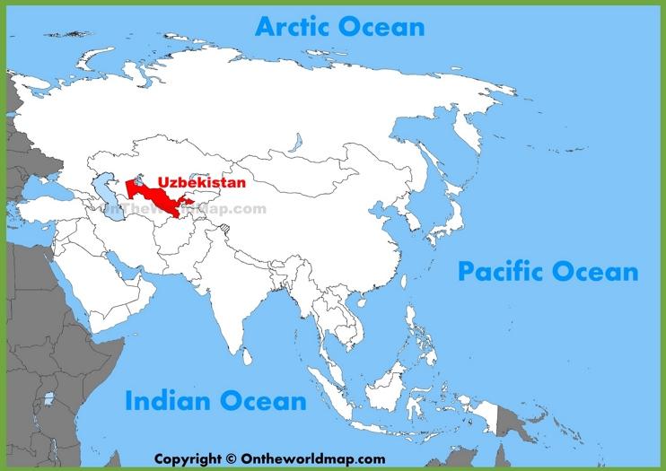 Uzbekistan location on the Asia map