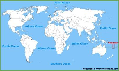 Vanuatu Location Map