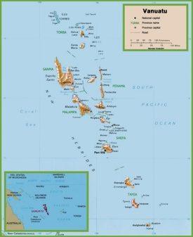 Vanuatu Maps Maps of Vanuatu