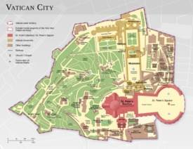 Large detailed map of Vatican City