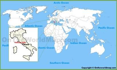 Vatican City Location Map