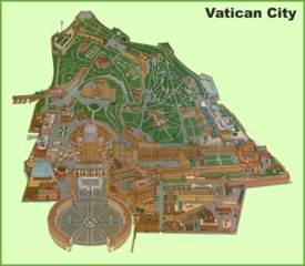 Vatican City pictorial travel map