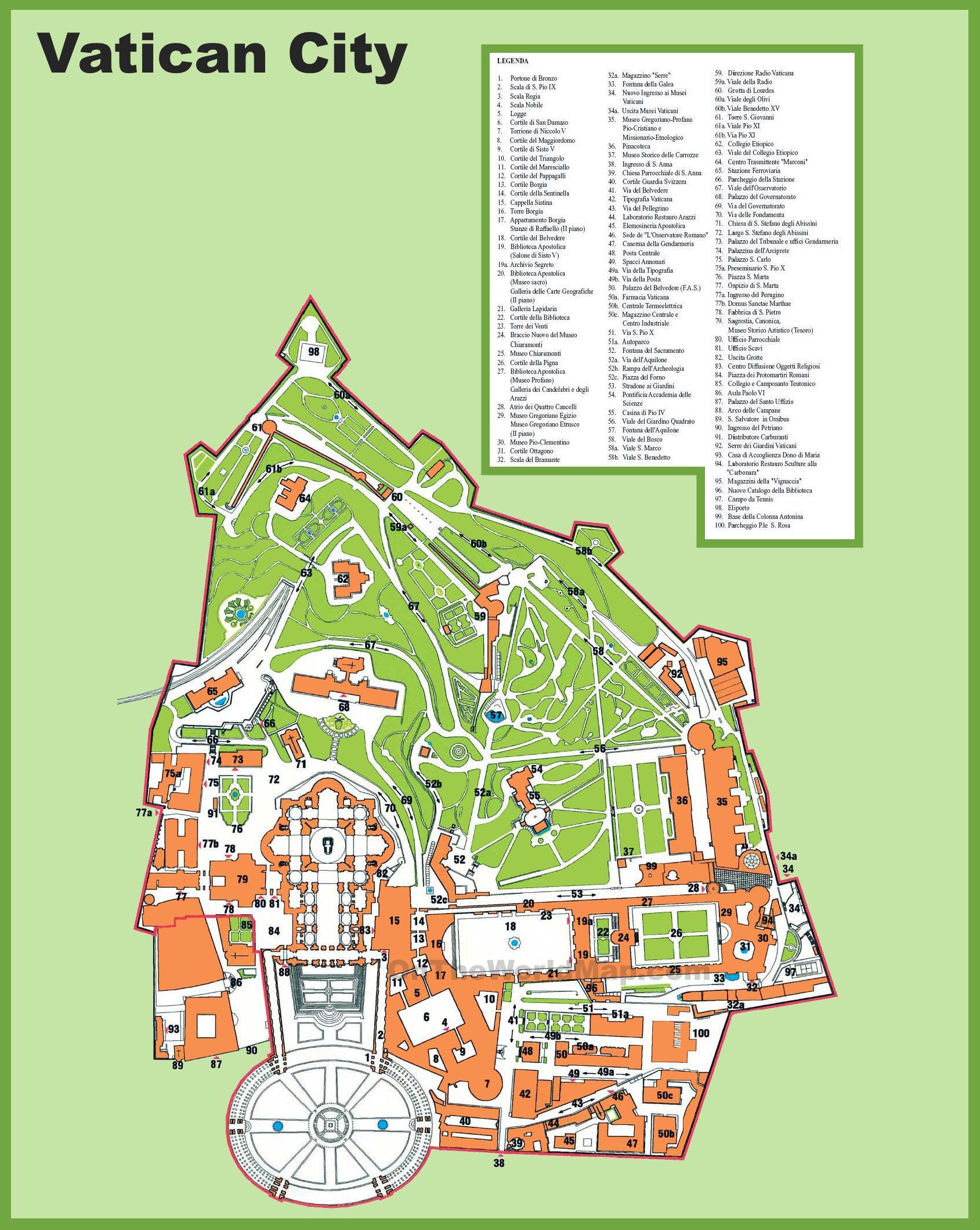Vatican City Maps – Jamaica Tourist Attractions Map
