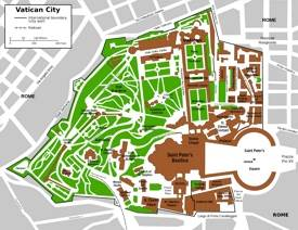 Vatican City tourist map