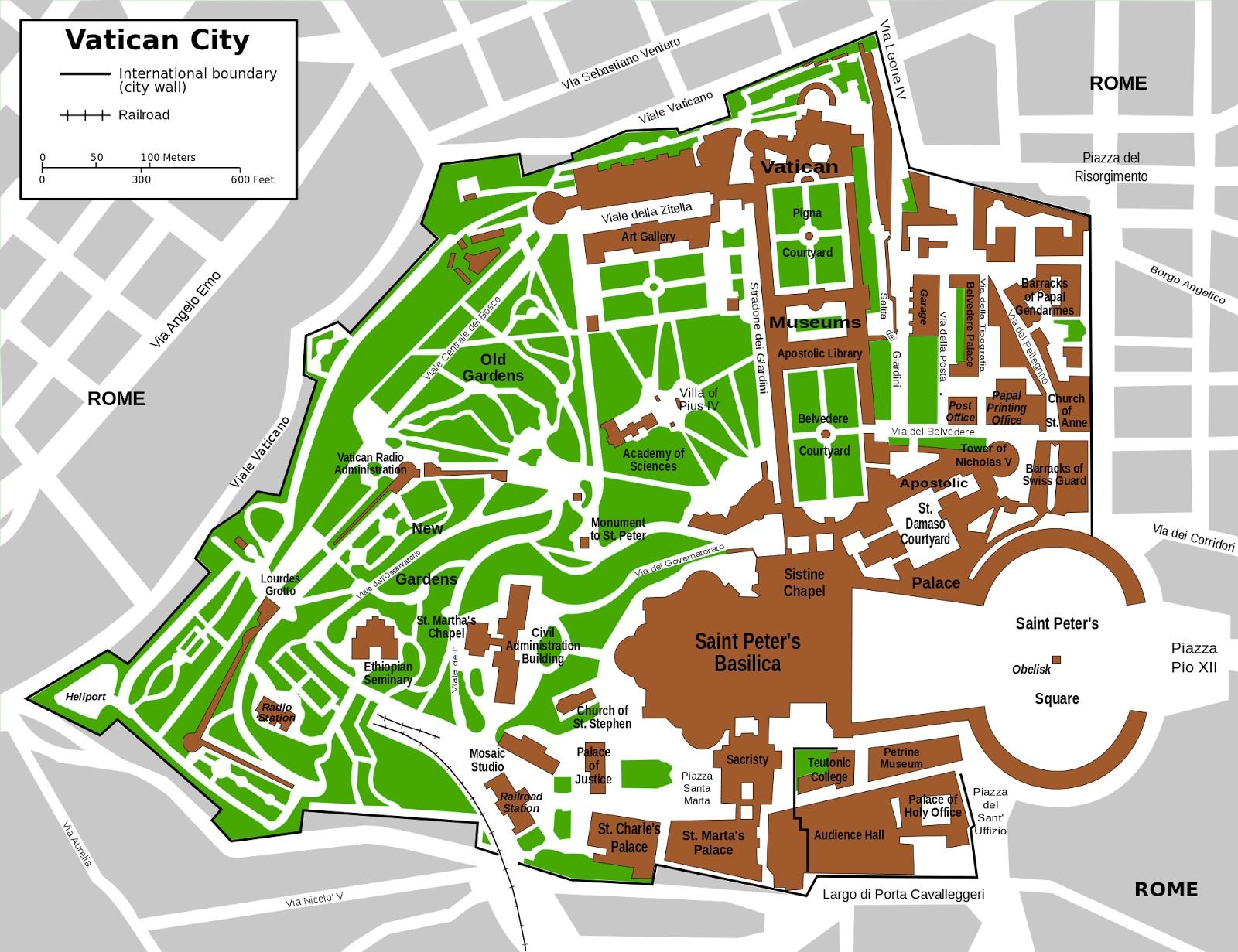 Vatican City tourist map