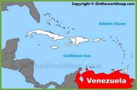 Venezuela location on the Caribbean map
