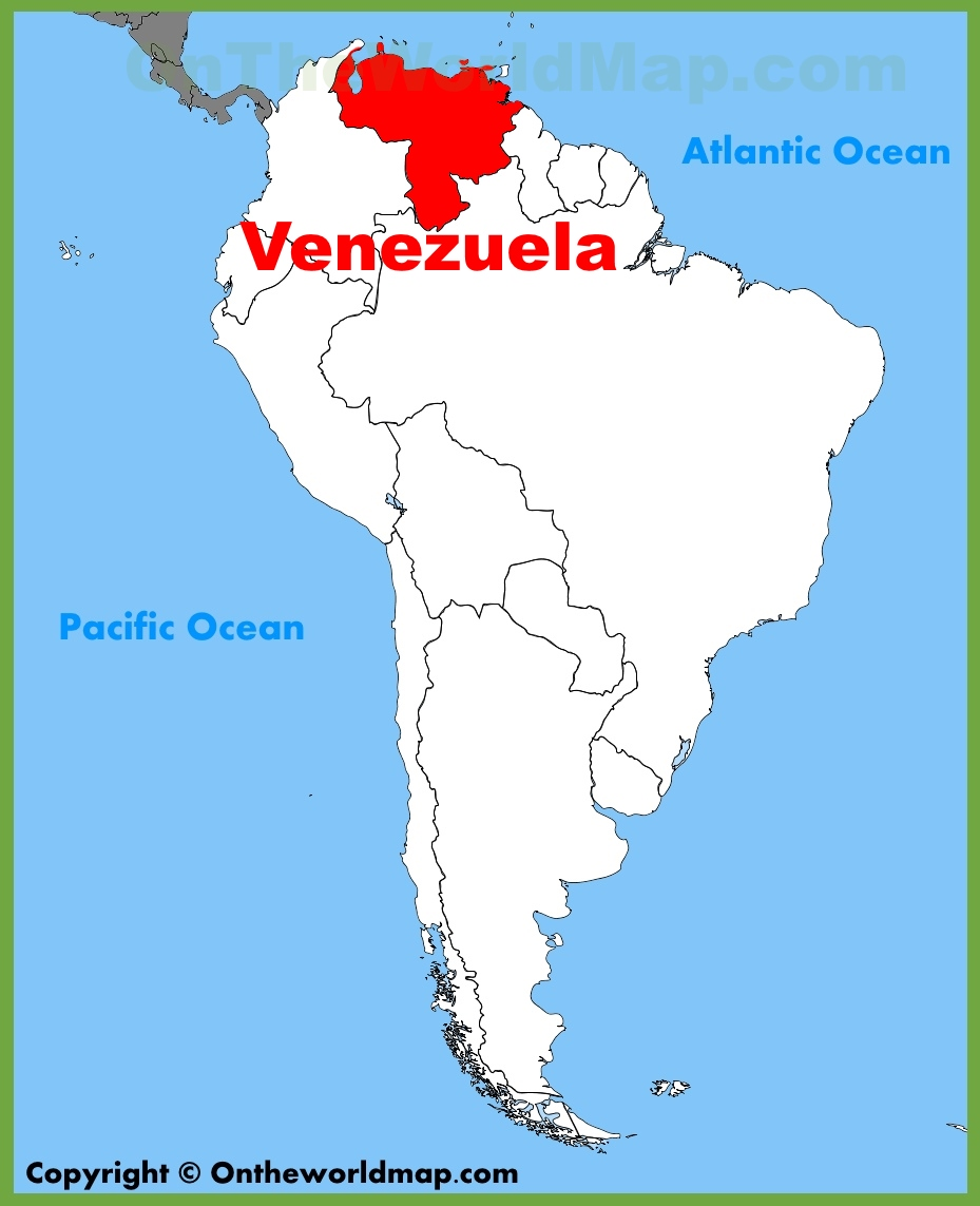 Venezuela Location On The South America Map