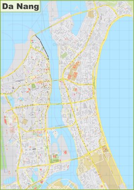 Large detailed map of Da Nang