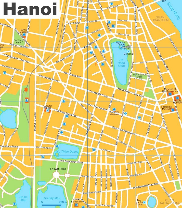 Hanoi tourist map