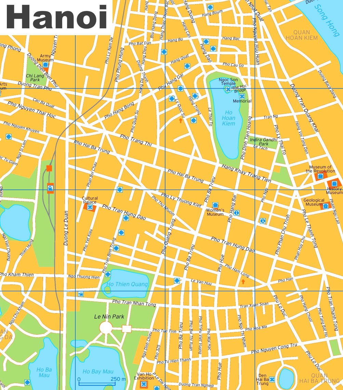 Map Ha Noi.Hanoi Tourist Map