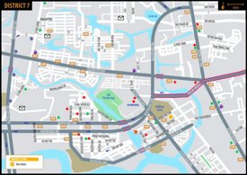 Ho Chi Minh City district 7 map