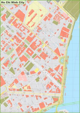 Ho Chi Minh City city center map