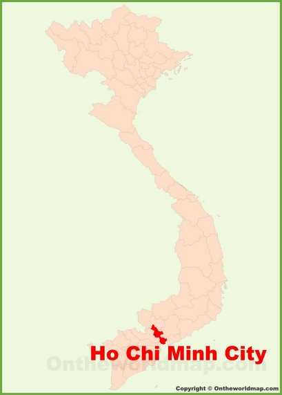 Ho Chi Minh City Location Map