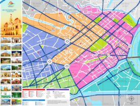 Ho Chi Minh City tourist map