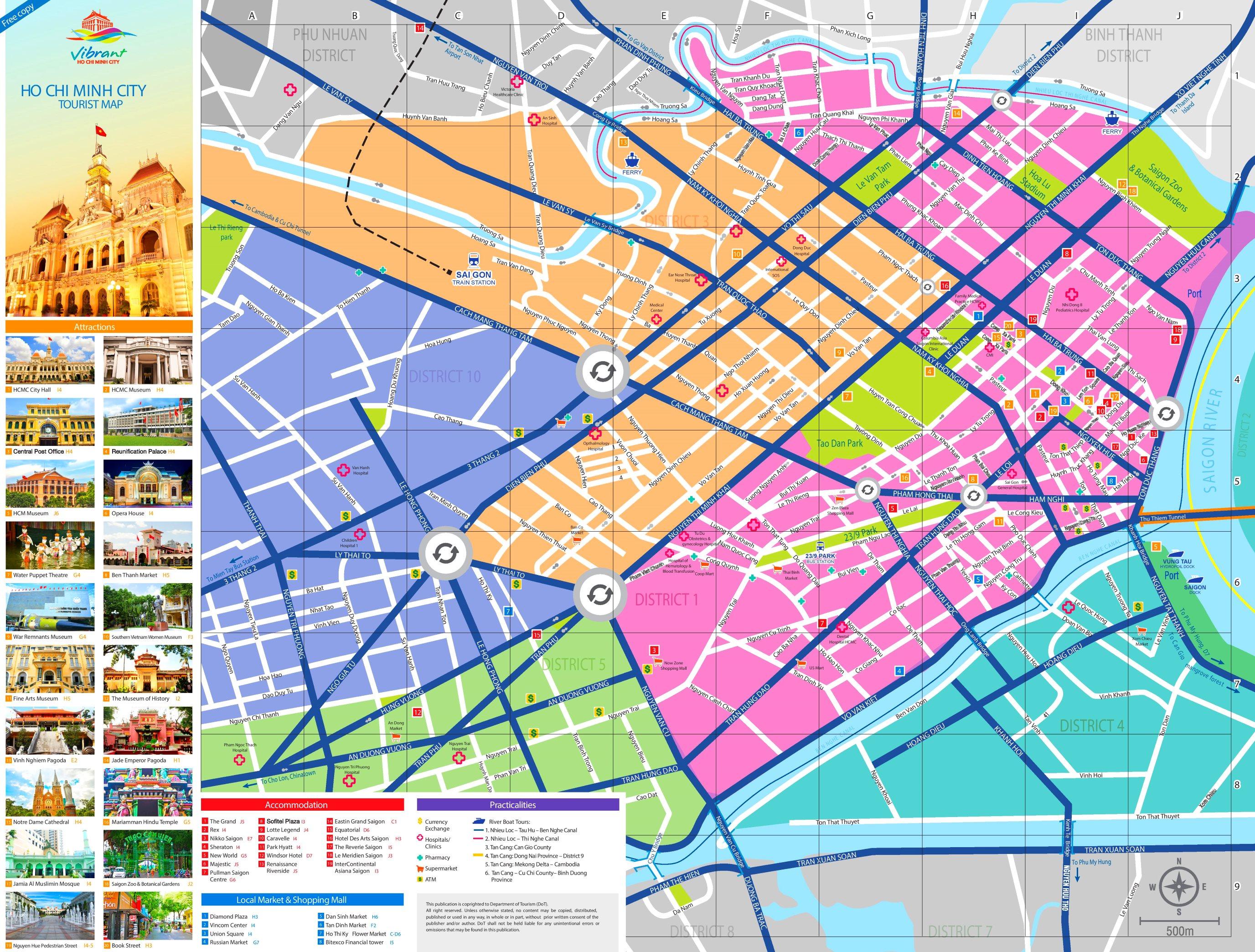 Ho Chi Minh Vietnam Map.Ho Chi Minh City Tourist Map