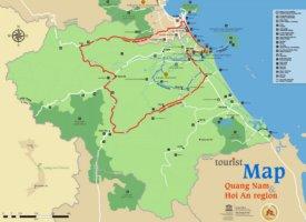 Quảng Nam Province tourist map