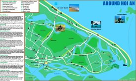 Tourist map of surroundings of Hoi An