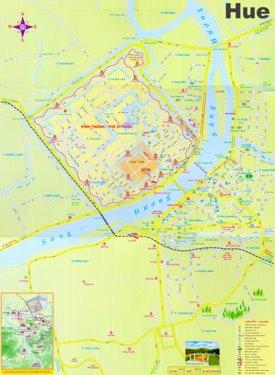 Hue tourist map