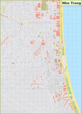 Nha Trang city center map