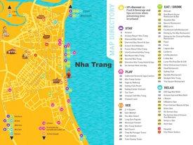 Nha Trang hotels and sightseeings map