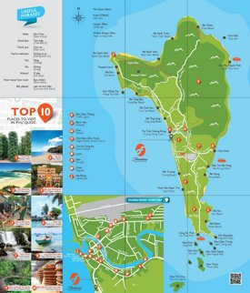 Phu Quoc tourist map