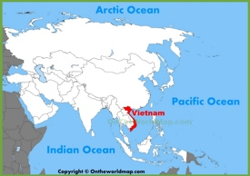 Vietnam location on the Asia map
