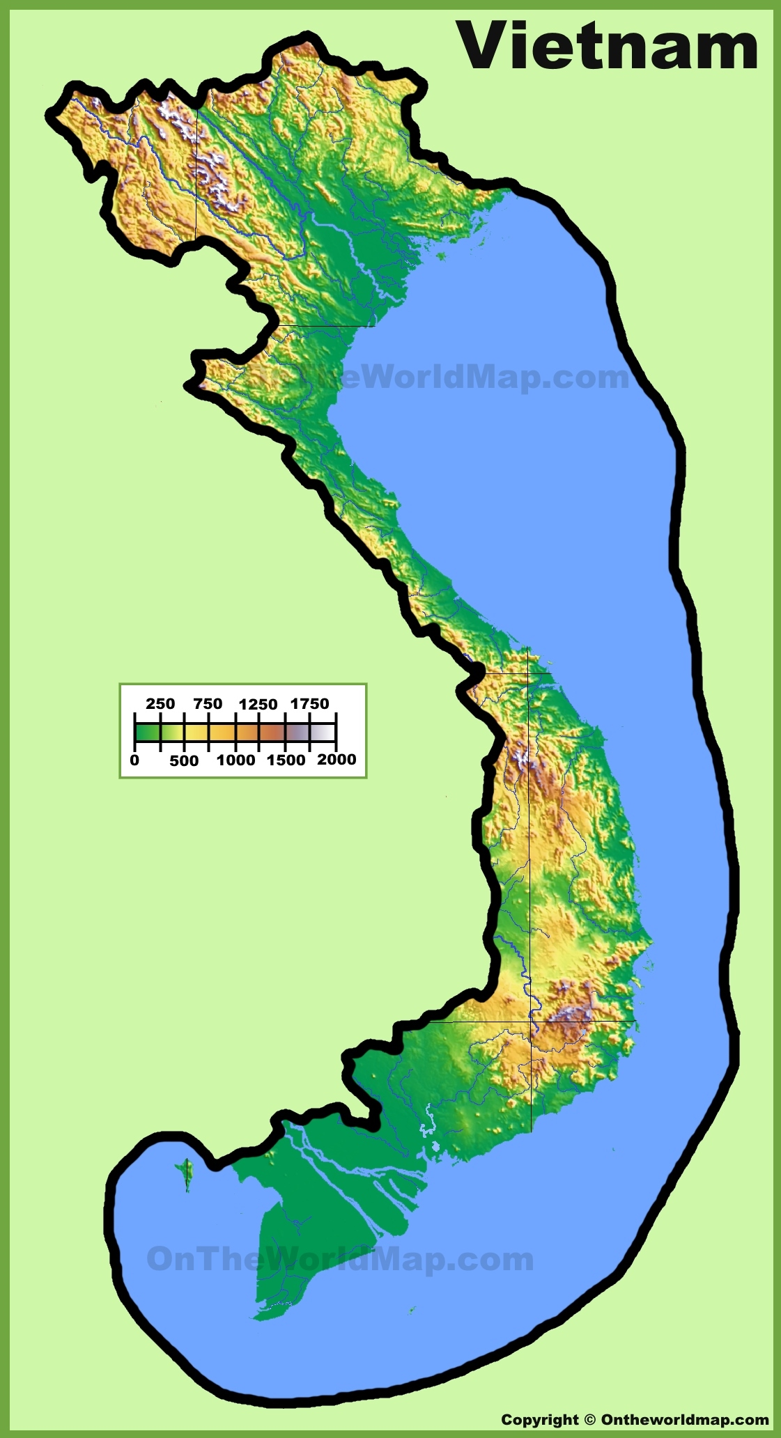 ... Vietnam Physical Map