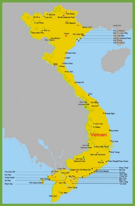 Vietnam resorts map