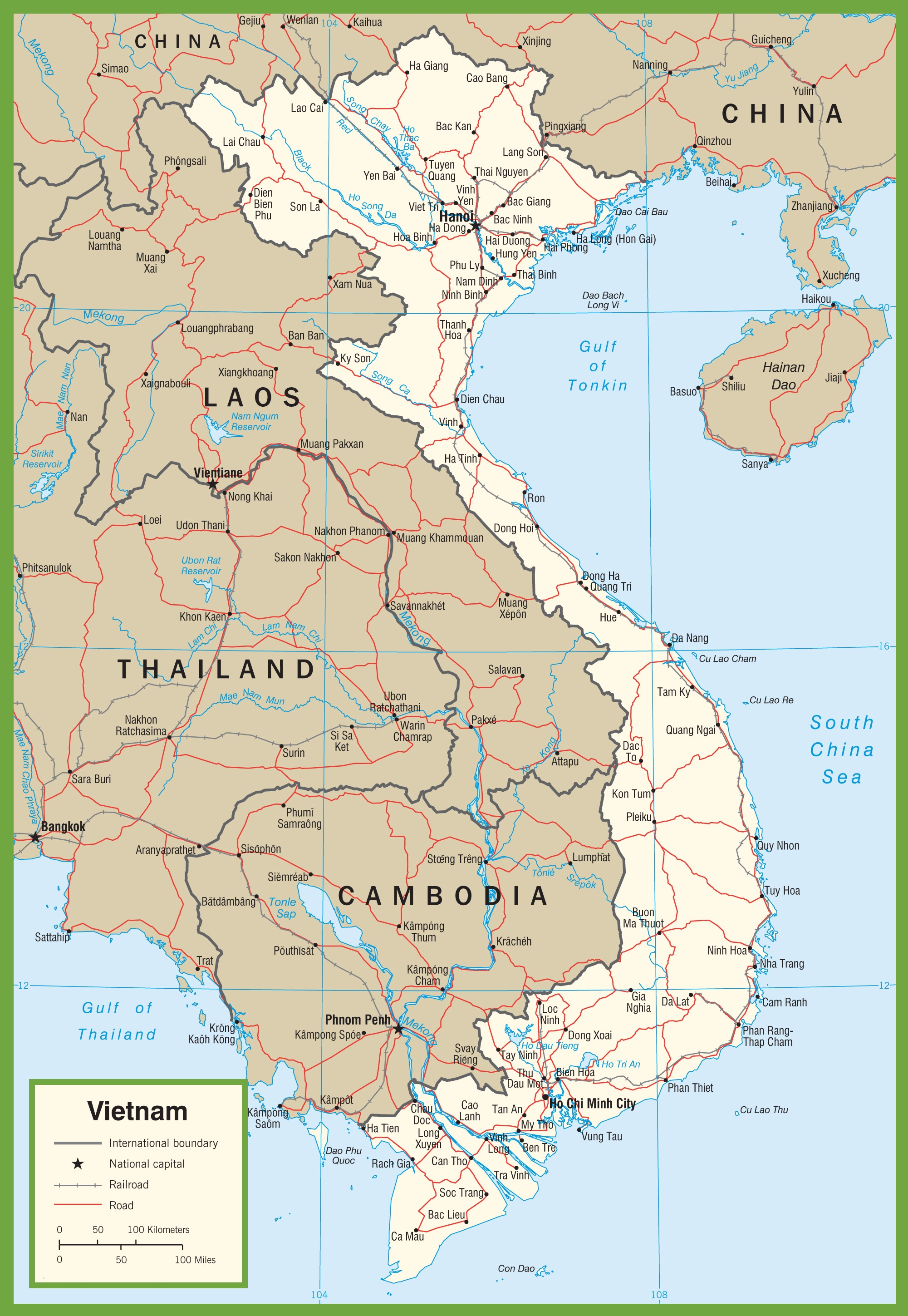 Vietnam maps maps of vietnam vietnam road map gumiabroncs Images