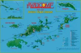 British Virgin Islands sightseeings map