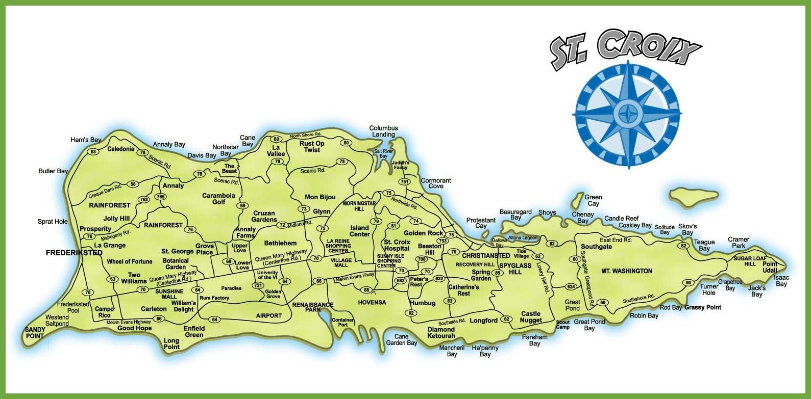 St Croix Island Map