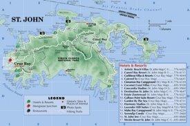 St. John island hotel map