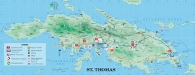 St. Thomas island tourist map