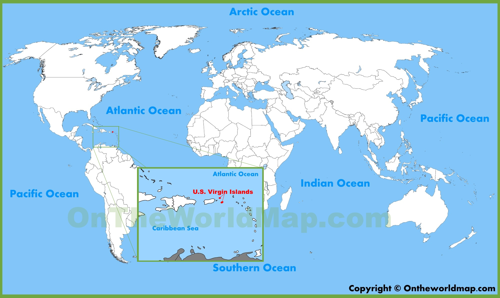 Map Of Us And Islands U.S. Virgin Islands Maps | Maps of United States Virgin Islands