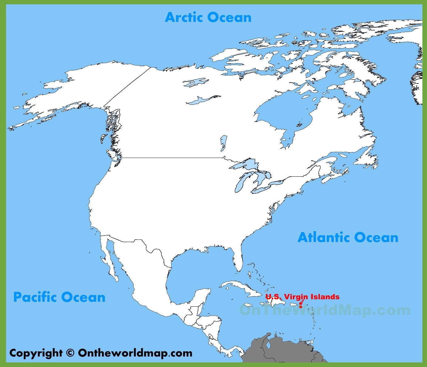 Us Map With Virgin Islands U.S. Virgin Islands Maps | Maps of United States Virgin Islands