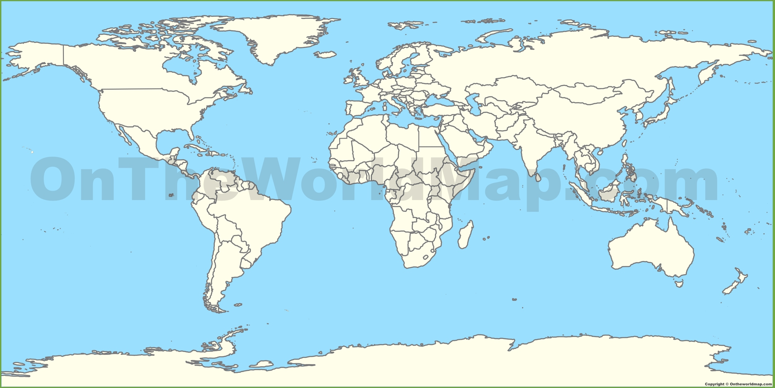 Outline blank map of World